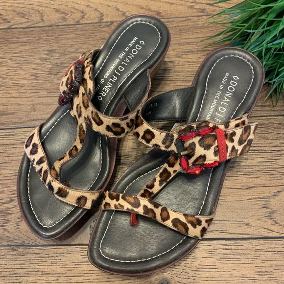 Donald Pliner Leopard Sandals